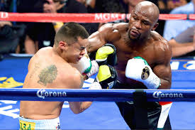 Floyd Mayweather moved to 46-0 with a tough win over Marcos Maidana in Las Vegas last night