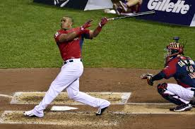 Yoenis Cespedes hitting on of his 30 Home Runs in Last Night Home Run Derby @ Target Field
