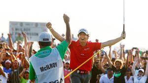 Rory Mcllory celebrates his PGA Tour Championship victory