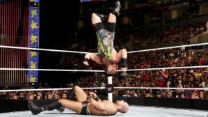 RVD with a split legged moonsault during his match vs. Cesaro.