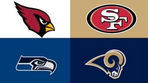 Can the Seahawks repeat as SUper Bowl Champs, can the Niners get over the hump to the promise land, can the Cards get in the postseason this season & can the Rams overcome losing  QB Sam Bradford once again.