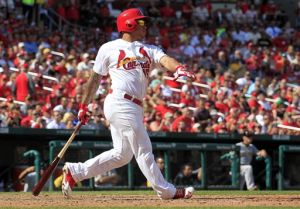 Kolten Wong of the Cardinals hit a home run yesterday on Labor Day as the Cards win 5-4 & take over the lead in the NL Central.