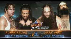 Wyatt Family vs. Reigns & Ambrose