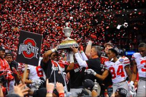 The defending champion Ohio State Buckeyes are looking to repeat in 2015. Can anyone in the BIG 10 stop them?