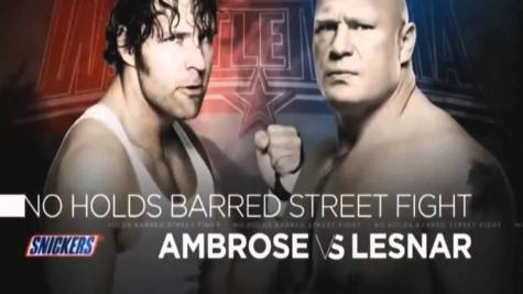 Street Fight- Ambrose vs. Lesnar